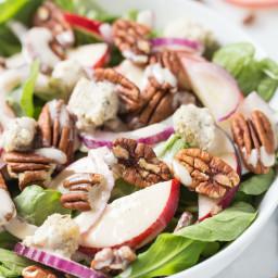 Apple + Pecan Arugula Salad
