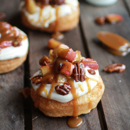 Apple Pecan Pie Cronuts with Apple Cider Caramel Drizzle