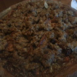 Apple Pie with Pecan Brandy Crumb Topping