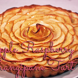 Apple Raspberry Frangipane Tart