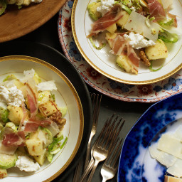 Apple Salad With Walnuts and Brussels Sprouts