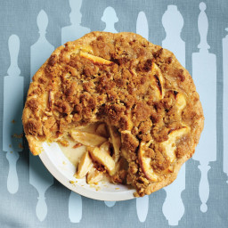 Apple-Sour Cream Crumb Pie