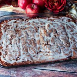 Apple Spice Cinnamon Swirl Coffee Cake