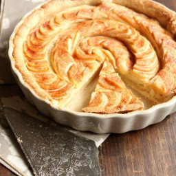 Apple Tart with Almond Paste Filling