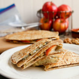 Apple, Walnut, Gorgonzola Quesadillas