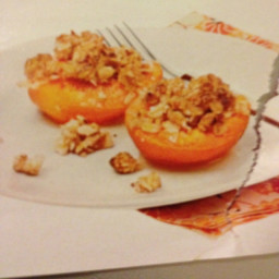 Apricots with Almond Crumble