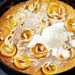 Apricot and almond clafoutis