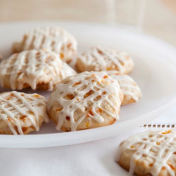 Apricot and Nut Cookies with Amaretto Icing