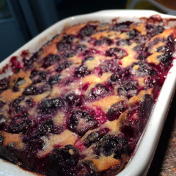 Apricot and Raspberry Clafouti