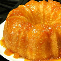 Apricot Brandy and Peach Schnapps Pound Cake