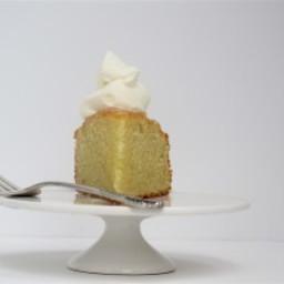 Apricot-Glazed Almond Cake With Honeyed Mascarpone Cream