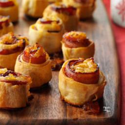 Apricot-Glazed Bacon Spirals Recipe