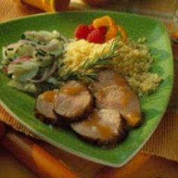 Apricot-Mustard Grilled Pork Tenderloin