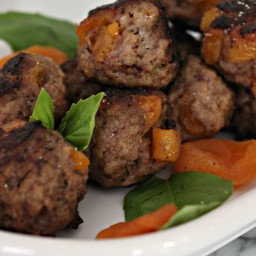 Apricot Studded Sherry Meatballs