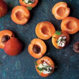 Apricots and Creme Fraiche