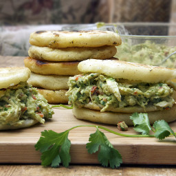 AREPAS with CHICKEN and AVOCADO