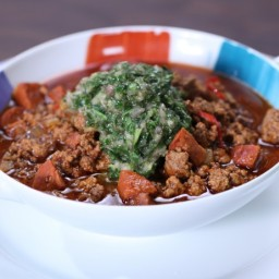 Argentine Chili With Chimichurri