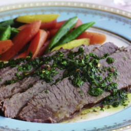 Argentinian Brisket With Chimichurri From 'Joy of Kosher'