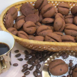 Aromatic cookie Coffee beans