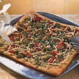 Artichoke and Feta Cheese Pizza