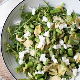 Artichoke, Bean and Goat Cheese Salad