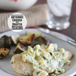 Artichoke Chicken with Roasted Potatoes