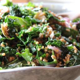 Artichoke Heart, Kale, and Farro Salad