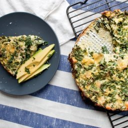 Artichoke, Kale and Ricotta Pie