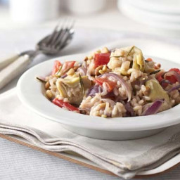 Artichoke, red onion and rosemary risotto