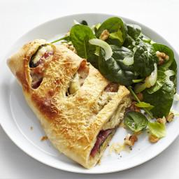 Artichoke-Salami Stromboli