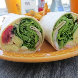 Artichoke, Spinach and Hummus wrap