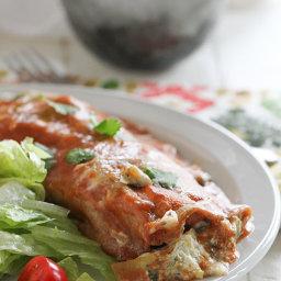 Artichoke and Spinach Enchiladas