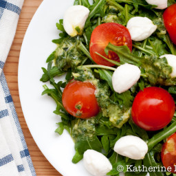 Arugula and Warm Mozzarella Salad