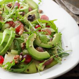 Arugula & Blueberry Salad with Raspberry Vinaigrette