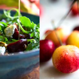 Arugula, Cherry and Goat Cheese Salad