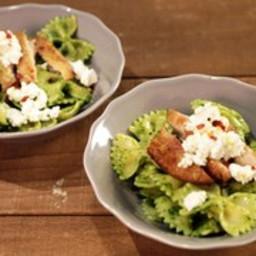 Arugula Pesto Farfalle with Chicken