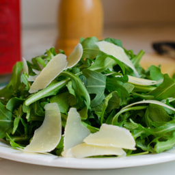 Arugula Salad with Shaved Parmesan, Lemon & Olive Oil