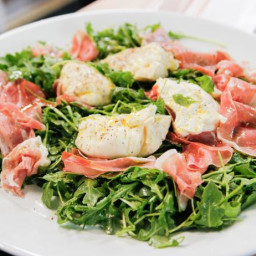 Arugula With Proscuitto And Burrata