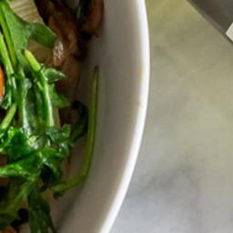 Arugula and Mushroom Rustic Pasta
