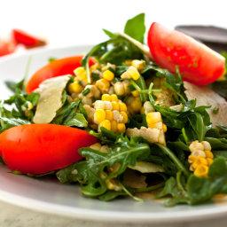 Arugula, Corn and Herb Salad