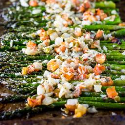 Asiago Bruschetta Roasted Asparagus