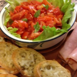 Asiago Cheese & Tomato Bruschetta