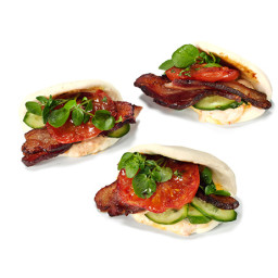Asian BLT Buns With Chile Mayonnaise