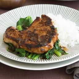 Asian braised pork chops