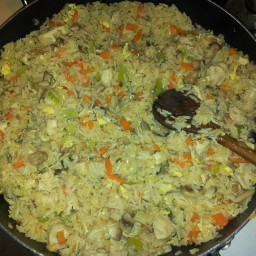 Asian chicken fried rice