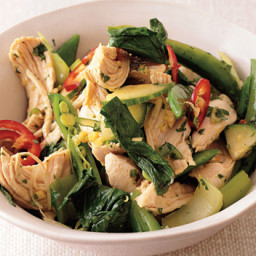 Asian Chicken Salad with Snap Peas and Bok Choy