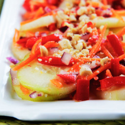 Asian Cucumber Salad with Red Chili Soy Vinagrette