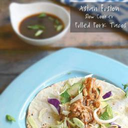 Asian Fusion Slow-Cooker Pulled Pork Tacos