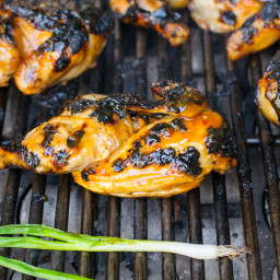 Asian grilled Cornish hens