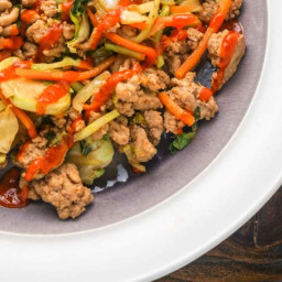 Asian Ground Turkey Stir-Fry